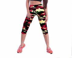 2017 Women Fitness High Waist Sporting Capri Cropped Leggings Workout Bodybuilding Gymming Runs Pants Exercise Yogaing Clothing