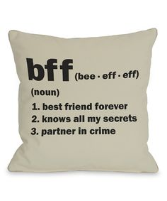 'BFF' Pillow - Set of Two | Daily deals for moms, babies and kids