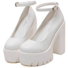 Platform Heeled Sandals (€33) ❤ liked on Polyvore featuring shoes, sandals, heels, platform heel sandals, heeled sandals, heel platform shoes, platform sandals and platform shoes