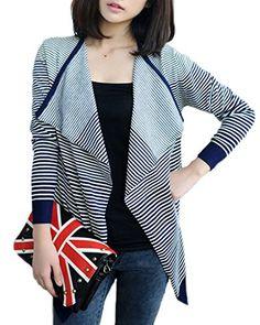ReliBeauty Contrast Hemline Striola V-neck Elastic Cardigan Sweater Coat (One Size, Navy Blue) ReliBeauty http://www.amazon.com/dp/B00NIDEN9K/ref=cm_sw_r_pi_dp_SO3Aub184HYVC