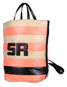 Sonia Rykiel New Ligne Leon Striped and 51252223 Pink Beige Black Padded Nylon Leathet Backpack off retail Sr Logo, Striped Backpack, Designer Handbags On Sale, Backpack Straps, Pink Beige, Sonia Rykiel, Vintage Bags, Bag Sale, Satchel