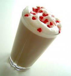 Romantic cafe latte