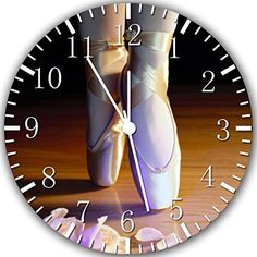 """New Ballets Shoes Wall Clock 10"""" Will Be Nice Gift and Room Wall Decor W310 Ikea http://www.amazon.com/dp/B00UF98U6C/ref=cm_sw_r_pi_dp_Gyt.ub110Y2SZ"""