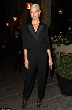 Ooh la la! Karlie Kloss stepped out in style during a night out in Paris on Wednesday during Fashion Week