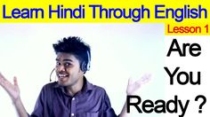 Learn Hindi Through English - Lesson 1 - My Hindi Speaking Tutorial videos will be helpful you to learn to speak Hindi fluently like native speaker from Engl. Vegas 2, Learn Hindi, Hindu Culture, Tom Clancy, English Lessons, Writing, Learning, Children, English Phrases