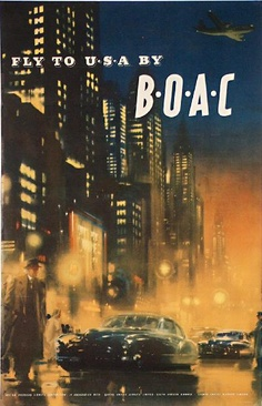 fly to USA by BOAC      1950s