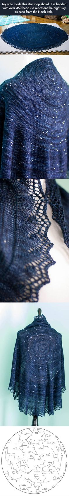 O.M.G.: Star map shawl!!!