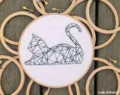 embroidery cat ile ilgili görsel sonucu