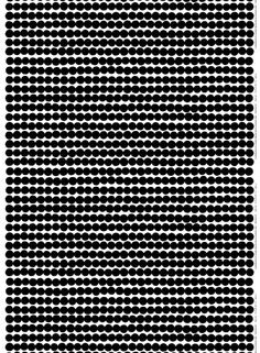 Marimekko Räsymatto Fabric White/Black | Kiitos Marimekko