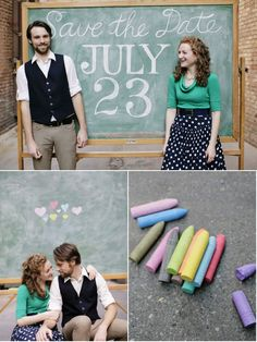 a really fun, totally simple save-the-date photoshoot.  would make anyone smile.