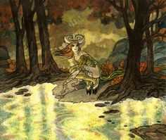 """Enchanted Evening"" -10.5"" x 12.5""  Original art for Magic the Gathering by Rebecca Guay available at the R. Michelson Galleries or at rmichelson.com"