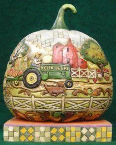 """""""John Deere Pumpkin"""" by Jim Shore Heartwood Creek $54.99 at the Cottage Gift Shop - Elmira, New York"""