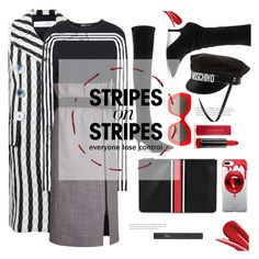 lose control - missy elliott by gabrielleleroy on Polyvore featuring polyvore fashion style Y-3 Victoria Beckham Yeezy by Kanye West Givenchy Moschino Fifth & Ninth Alice + Olivia Max Factor Christian Dior clothing stripesonstripes PatternChallenge