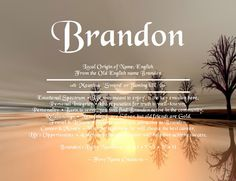 Brandon Name Meaning - First Name Creations Make A Character, Character Names, Brandon Name, First Names, Baby Names, Old English Names, Personal Integrity, Name Boards, Name Games