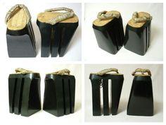 Remarkable Antique Japanese Oiran Shoes Koma-geta