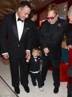 Elton John David Furnish Dog Arthur | VIP guest at two! Elton John and David Furnish's son Zachary steals ...