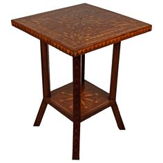 Marquetry table...tramp art