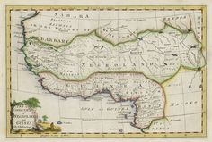 negroland and guinea | new correct map of negroland and guinea by g rollos geogr west ...
