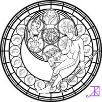 Jack Frost Stained Glass Coloring Page by Akili-Amethyst