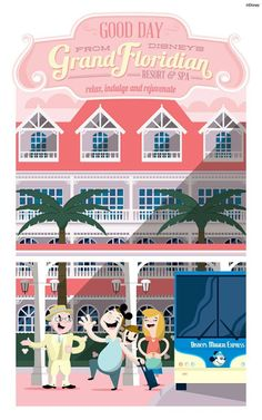 Walt Disney World Hotels and Resort Posters - Grand Floridian