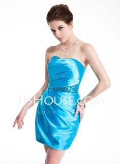 Cocktail Dresses - $123.99 - Sheath Sweetheart Short/Mini Charmeuse Sequined Cocktail Dress With Ruffle (016021147) http://jjshouse.com/Sheath-Sweetheart-Short-Mini-Charmeuse-Sequined-Cocktail-Dress-With-Ruffle-016021147-g21147