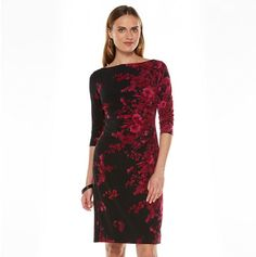 Chaps floral sheath dress – women's  Was: 100.00$ Now: 75.00$