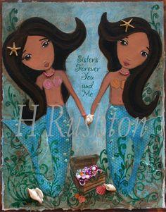 Mermaid art by Heather Rushton