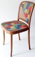 обновление стульев и табуреток вышивкой