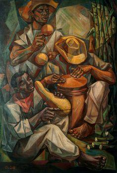 The Merengue, Artist Vela Zanetti Modern and Contemporary Art from the Dominican Republic African American Art, African Art, Arte Latina, Filipino Art, Latino Art, Haitian Art, Cubism Art, Caribbean Art, Mexican Artists