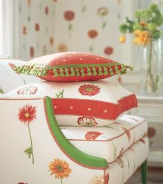 Picking Flowers wallpaper & printed fabric from the Sweet Life Collection by Thibaut