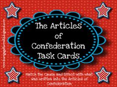 Articles of Confederation Leveled Readings,Task Cards, and Notebook Foldables School Tool, School Fun, School Ideas, Teaching Us History, Teaching Kids, 8th Grade History, 7th Grade Social Studies, Reading Task Cards, Classroom Helpers