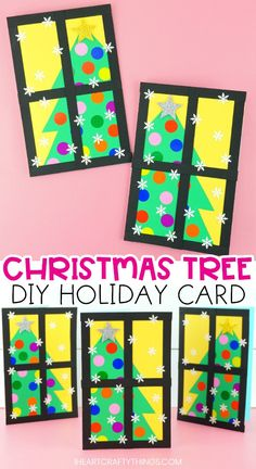 Diy christmas cards 285556432610963886 - Surprise friends and family with this easy-to-make Christmas tree card. Our free card template makes this an easy Christmas card for kids to make. Source by iheartcrafty Christmas Arts And Crafts, How To Make Christmas Tree, Preschool Christmas, Christmas Crafts For Kids, Holiday Crafts, Christmas Diy, Christmas Card Ideas With Kids, Kids Arts And Crafts, Merry Christmas