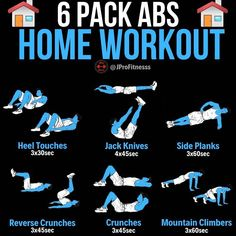 6 Pack Abs Home Workout Fitness Routine Ideas and Inspiration for Isolation and Quarantine Gym Workout Tips, At Home Workout Plan, At Home Workouts, Gym Tips, Workout Abs, Workout Women, 30 Day Ab Challenge, Workout Challenge, Workout Exercises