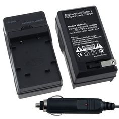 Nikon ENEL10 AC  DC Replacement Battery Charger Set for Nikon CoolPix S200  S210  S220  S230  S3000  S4000  S500  S510  S520  S570  S60  S600  S660  S700 Digital SLR Camera -- Learn more by visiting the image link. (This is an affiliate link)