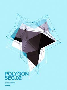 Polygon on the Behance Network. E se la mente dell'artista fosse come una forma mutevole? Che cambia a seconda della persona che ci entra e si adatta a lei? Qualcosa di molto grafico