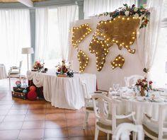 Декор зала. Свадьба Путешественники. Wedkitchen