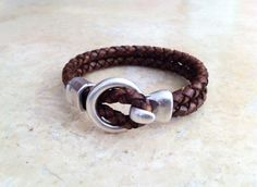 mens leather leather bracelet for men Bracelet for men. by HITUK, €18.00