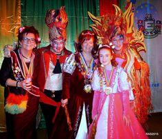 Tijdens het optreden van het 'Duo Domm en Dööl' sloeg de vlam in de pan tijdens het bal van Prinses Hanny I van de Gelliker Galliaren.