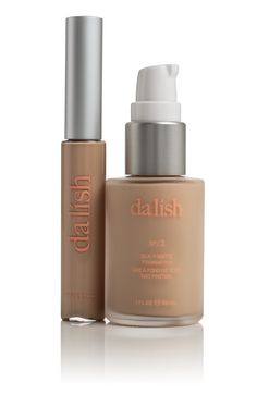 Silk - Matte Foundation / Illuminating Concealer Set $55 in FO2/CO2. This long wear foundation / concealer set can easily be applied with your finger tips - and dries to a radiant matte finish. Light coverage ensures a natural looking result. more info available at www.dalishcosmetics.com