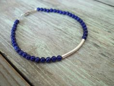 Handmade bracelet  with sterling silver  and lapis  by ePandora, $33.00