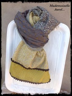 Sewing Online, Creation Couture, Lace Scarf, Diy Shirt, Vintage Lace, Turban, Refashion, Dressmaking, Scarves