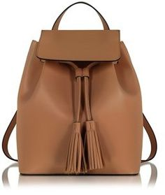 5ae4fd788989 Le Parmentier Women s Brown Leather Backpack. Leather Pouch