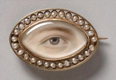 Philadelphia Museum of Art - Collections Object : Portrait of a Right Eye Made in England, c. Eye Jewelry, Clay Jewelry, Jewelery, Victorian Jewelry, Antique Jewelry, Vintage Jewelry, Lovers Eyes, Miniature Portraits, Mourning Jewelry