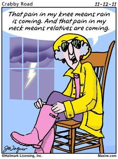 Lus Knee Pain - Maxine Humor - Maxine Humor meme - - Maxine cartoons The post Lus Knee Pain appeared first on Gag Dad. Funny Cute, The Funny, Hilarious, Funny Lady, Just For Laughs, Just For You, Senior Humor, Alzheimer, Thats The Way