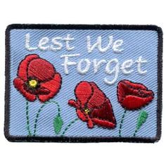 Lest We Forget - Poppies (Iron On) Embroidered Patch by E-Patches & Crests