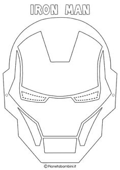 Iron Man Birthday, Superhero Birthday Party, Boy Birthday, Masque Iron Man, Superhero Mask Template, Iron Man Party, Fun Crafts, Crafts For Kids, Avenger Cake