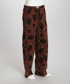 fb66f954eb93 Lazy One Brown   Black Bear Pajama Pants - Men s Regular
