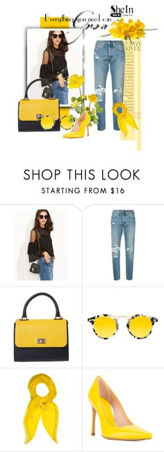 """""""She In"""" by ruzana17 ❤ liked on Polyvore featuring Levi's, Krewe, Hermès, Stuart Weitzman and By Terry"""