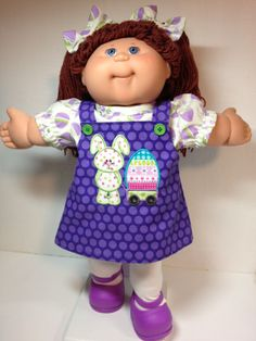 Cabbage Patch Jumper Bunny and Egg Wagon