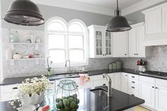Washing it White | Bower Power---used Benjamin Moore--Metropolitan...color matched to Valspar in eggshell finish